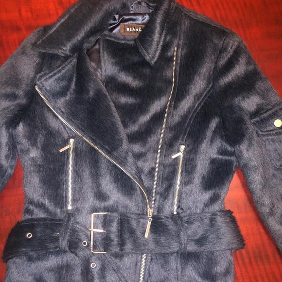 blanc noir Jackets & Blazers - Blanc Noir Faux Fur Limited Edition Coat